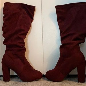 Maroon Slouch Boot